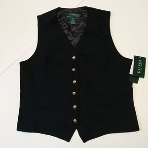 Ralph Lauren American essential blue vest 100 wool